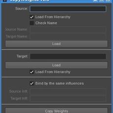 copyWeights for Maya 2.0.0 (maya script)