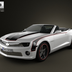 Chevrolet Camaro Black Hawks 2011 with HQ Interior 3D Model