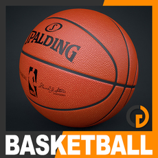 Spalding NBA Official Basketball Game Ball 3D Model