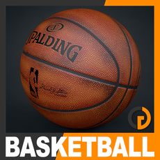 Spalding NBA Official Used Basketball Game Ball 3D Model