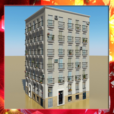 Photorealistic Low Poly Building 11 3D Model