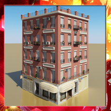 Photorealistic Low Poly Building 12 3D Model