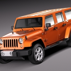 Jeep Wrangler Unlimited Sahara 2013 3D Model