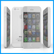 Apple iPhone 5 white 3D Model
