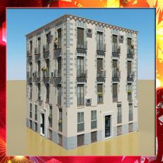 Photorealistic Low Poly Building 14 3D Model
