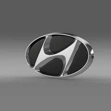 Hyundai company logo 3D Model