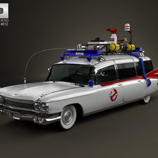 Cadillac Miller-Meteor Ghostbusters Ectomobile 3D Model