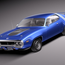 Plymouth Road Runner GTX 1971-1975 3D Model
