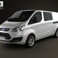 Ford Transit Custom Crew Van LWB 2013 3D Model