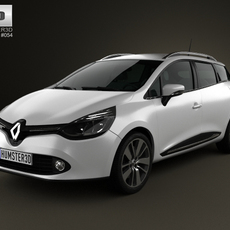 Renault Clio IV Estate 2013 3D Model