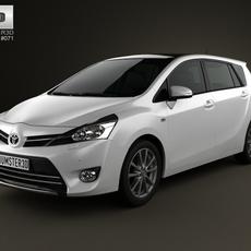 Toyota Verso (E'Z) 2013 3D Model