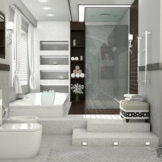 Bathroom 1 3D Model