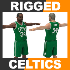 Rigged Basketball Player - Boston Celtics 3D Model