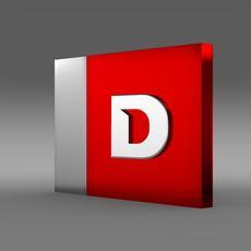 Derbi one letter 3d Logo 3D Model
