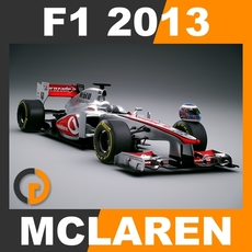F1 2013 McLaren MP4-28 - Vodafone McLaren Mercedes 3D Model