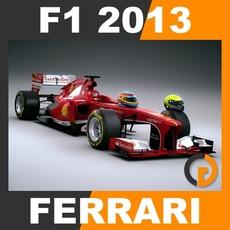 F1 2013 Ferrari F138 - Scuderia Ferrari 3D Model