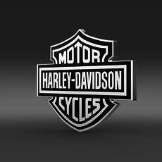 Harley-Davidson 3d Logo 3D Model