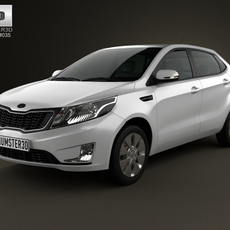 Kia Rio (K2) hatchback 5-door 2012 3D Model