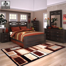 Ashley X-cess Panel Bedroom Set 3D Model