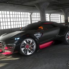 Citroen Survolt 2.0 3D Model