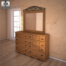 Ashley Rosalie Dresser & Mirror 3D Model
