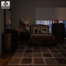 Ashley Emory Panel Bedroom Set 3D Model