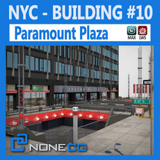 NYC Building Paramount Plaza 3D Model
