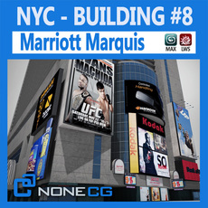 NYC Building Marriott Marquis 3D Model