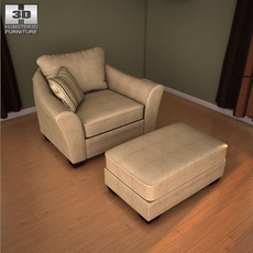Ashley Lena - Putty Oversized Chair 3D Model