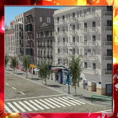 European City Block 01 3D Model