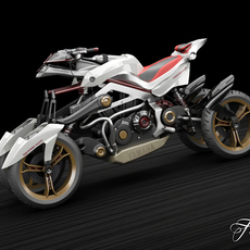Yamaha Tesseract 3D Model