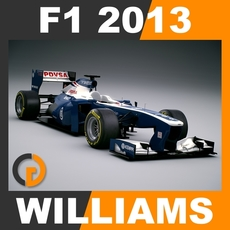 F1 2013 Williams FW35 - Williams F1 Team 3D Model