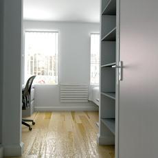 Student En-suite Bedroom 3D Model