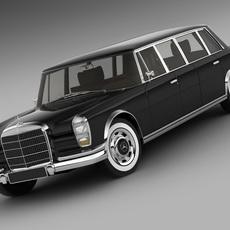Mercedes 600 W100 Pullman 1964-1981 3D Model