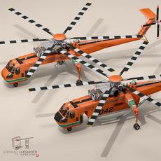 3D Model S64F and S64E Skycrane 3D Model