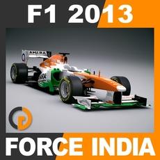 F1 2013 Force India VJM06 - Sahara F1 Team 3D Model