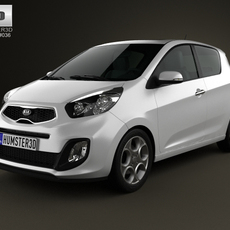 Kia Picanto (Morning) 3-door 2012 3D Model