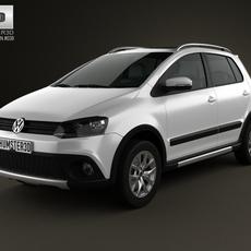 Volkswagen CrossFox 2012 3D Model