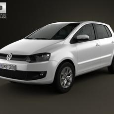 Volkswagen Fox 5-door 2012 3D Model