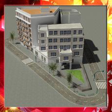 European City Block 02 3D Model