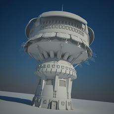 Sci Fi Building 14 3D Model