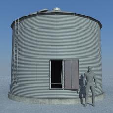 Old Grain Bin 3D Model