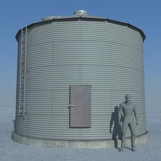 Old Sealed Grain Bin 3D Model