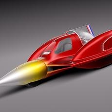 Turbo Sonic Concept Car Free Sample Model 3D Model