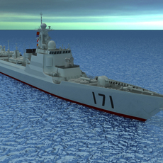 Chinese Navy DDG-171 3D Model