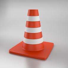 Cone of Road 3D Model