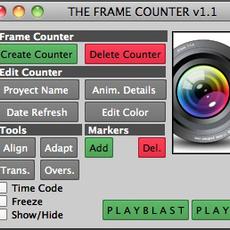 The Frame Counter for Maya 1.2.0 (maya script)