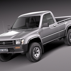 Toyota Hilux Pickup regular cab 1989-1997 3D Model