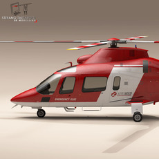 AW109 air ambulance 3D Model