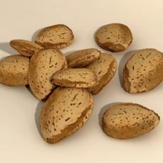 Almonds in Shell 3D Model